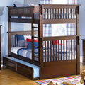 Colorado Twin/Twin Bunk Bed in Antique Walnut