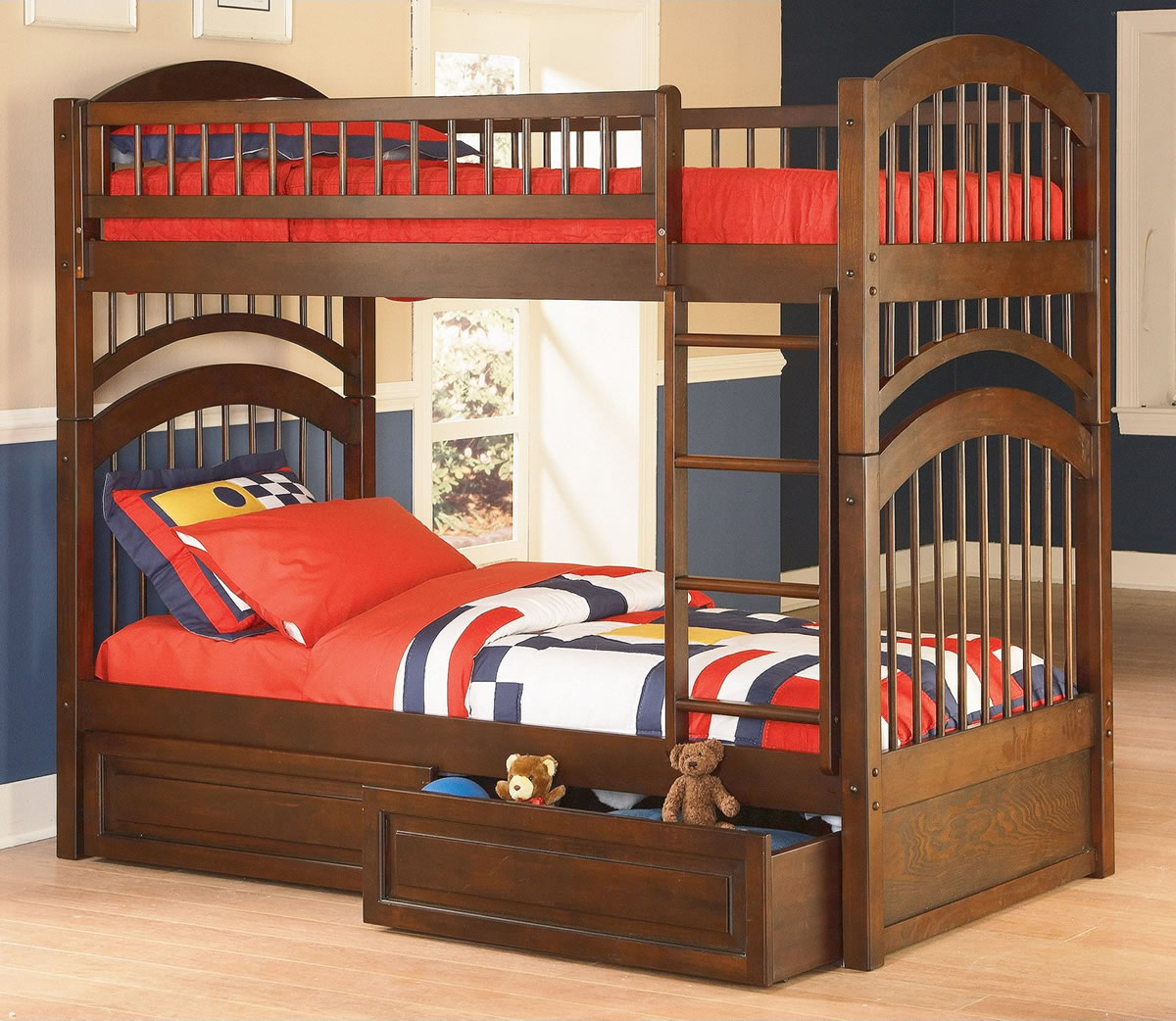 Atlantic Furniture Windsor Twin Over Twin Bunk Bed