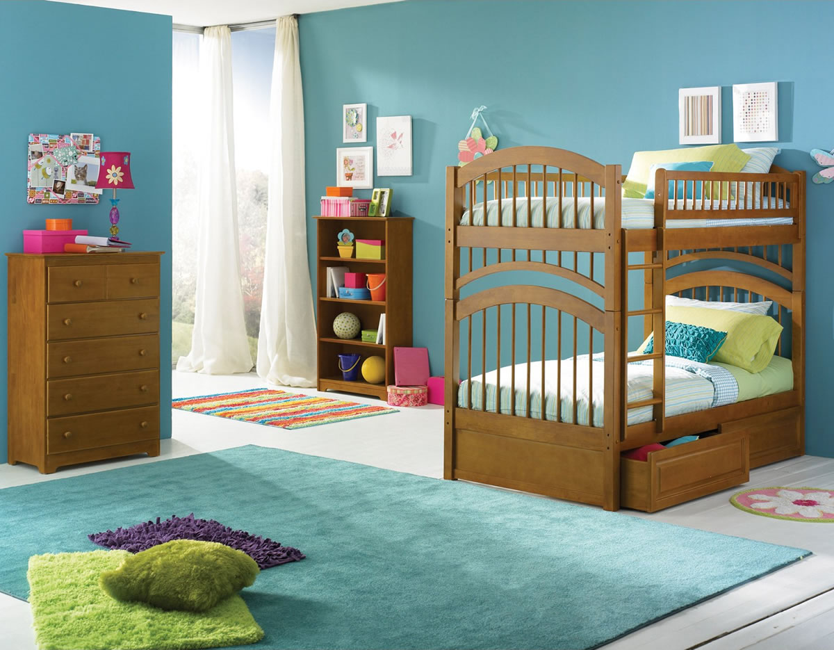 Twin Bunk Beds with Mattress Included 1200 x 935