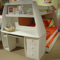 Berg Space Saver Twin Loft with 2 Chests