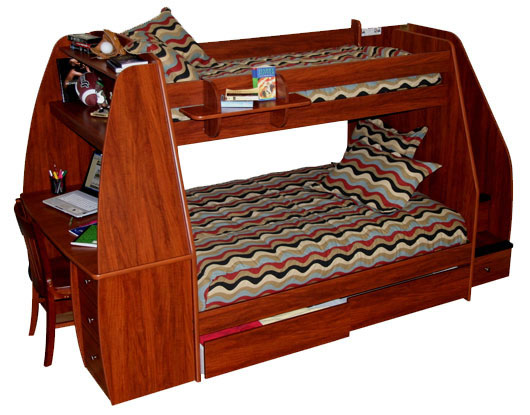 Berg enterprise twin over full bunk bed with desk and for In home furniture enterprise