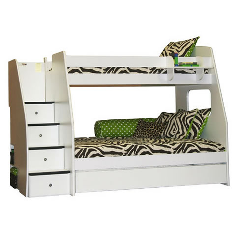 Berg Furniture Enterprise Twin Over Full Bunk Bed With Stairs