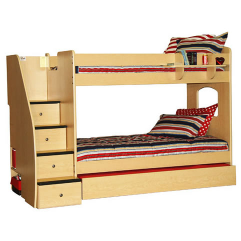 Berg Enterprise Twin Over Twin Bunk Bed With Stairs Click To Enlarge