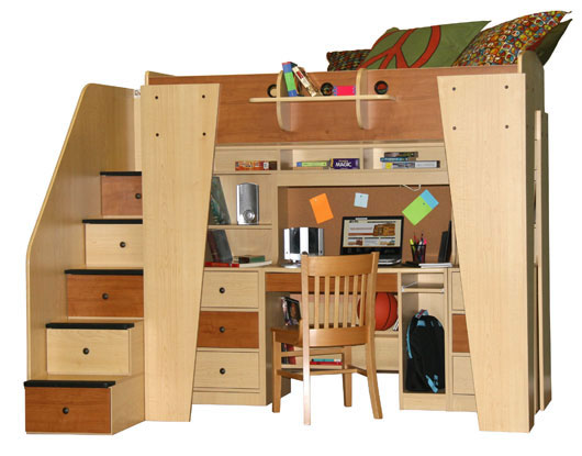 Berg Kid's Headquarters Loft Bed with Study Area - Click to Enlarge