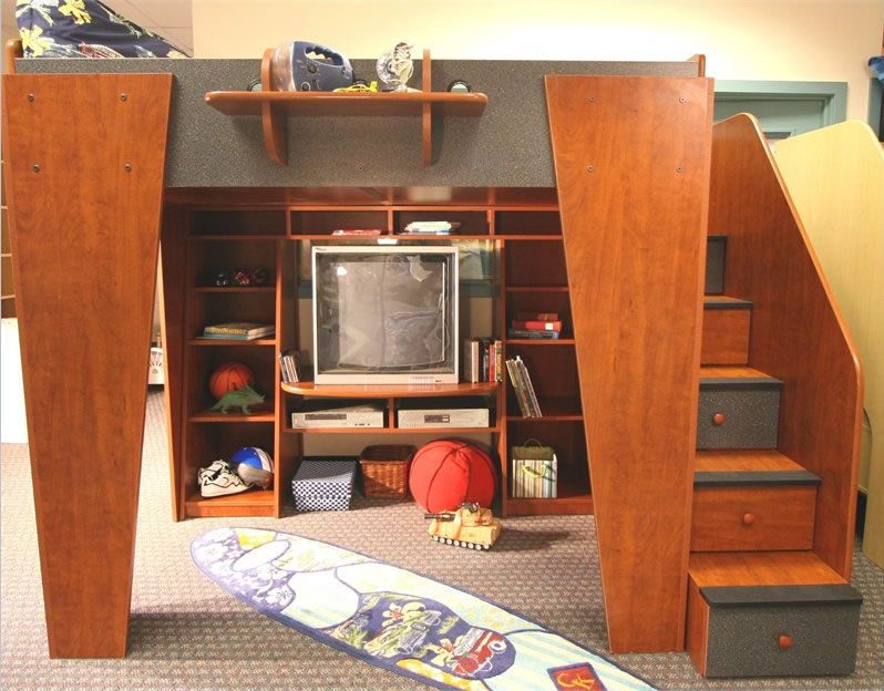 Berg Furniture Kid S Headquarters Full Loft Bed With