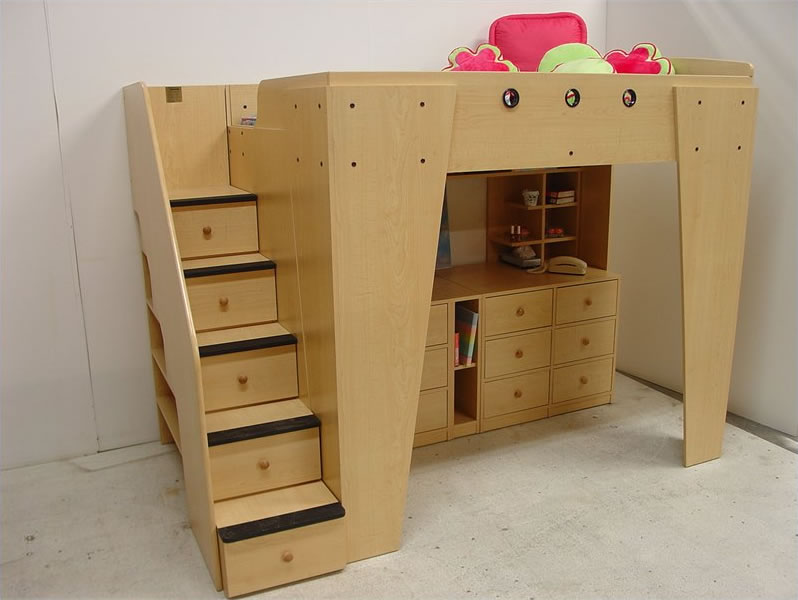 Berg Furniture Kid S Headquarters Loft Bed With Storage