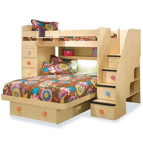 Berg Furniture Sierra Twin Over Full Loft Bed With Chest