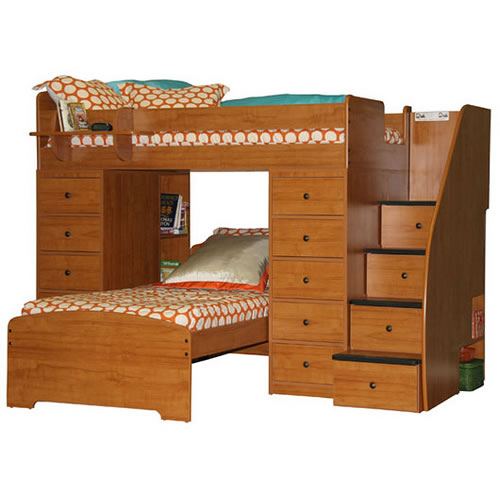 bunk beds additional features. Black Bedroom Furniture Sets. Home Design Ideas