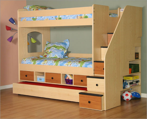 Berg Utica Storage Twin over Twin Bunk Bed with Trundle