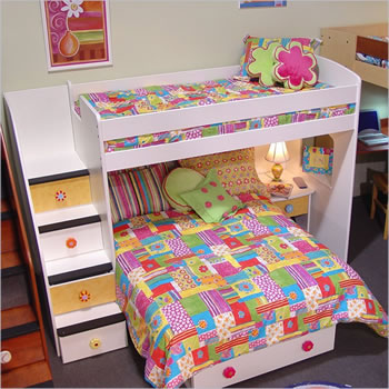 Berg Utica Twin over Full Loft Bed