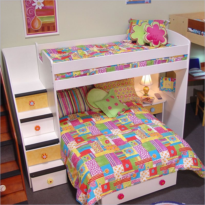 Berg Furniture Utica Twin over Full Loft Bed