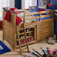 Berg Furniture Sierra Captain S Bed For Two Full Over Twin