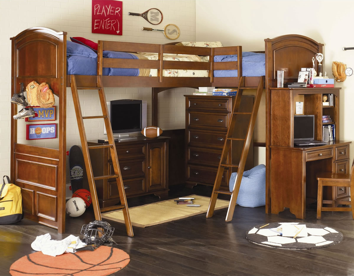 Lea Furniture Deer Run Bi Loft Bed: bunk bed boys room