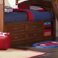 Lea Deer Run Bunk Bed with Captain's Bed Box