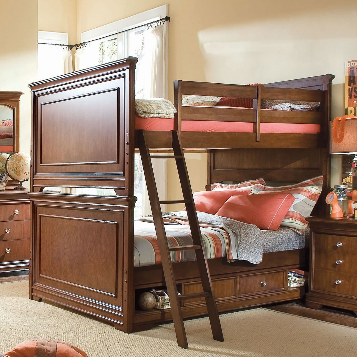 Picture of: Lea Furniture Elite Classics Full Over Full Bunk Bed