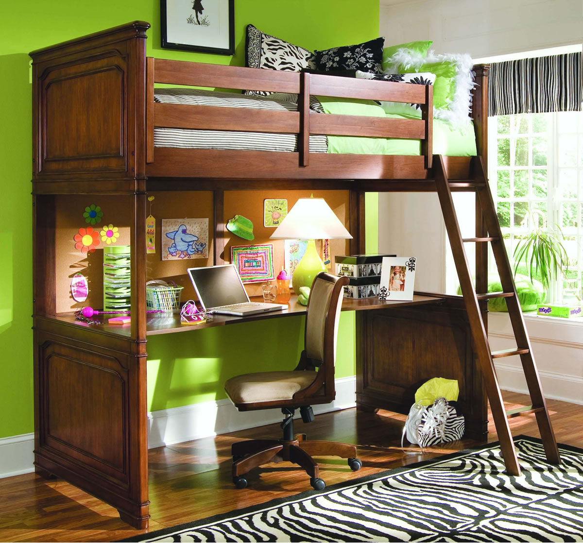 bed desk loft views size full with bunk ekidsrooms alternative