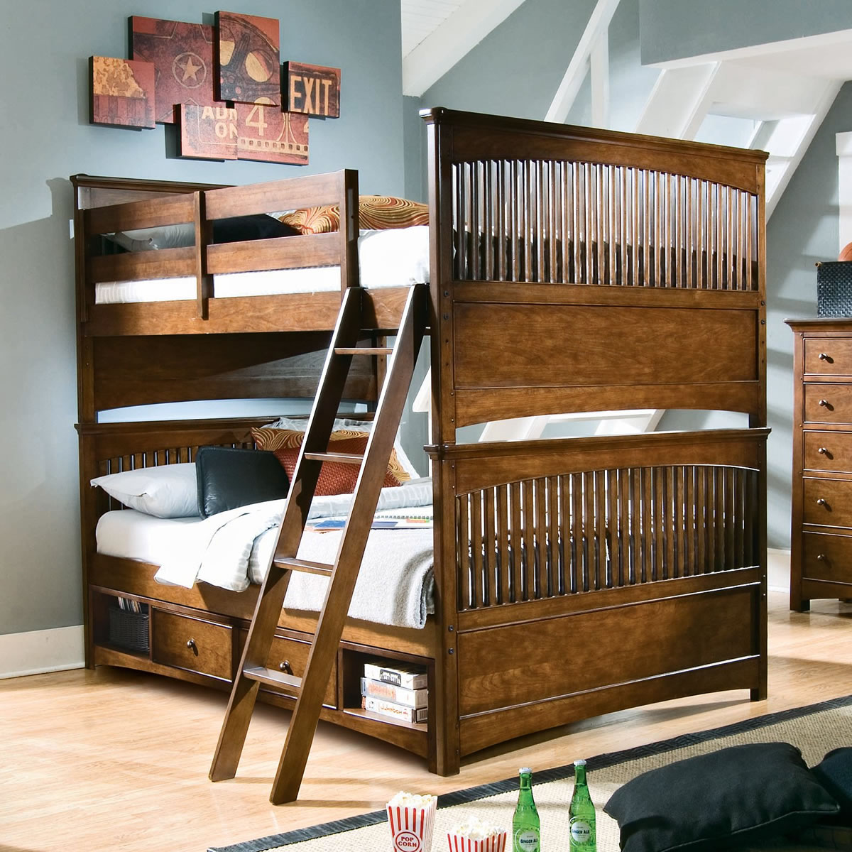 Lea Furniture Elite Crossover Full Over Full Bunk Bed