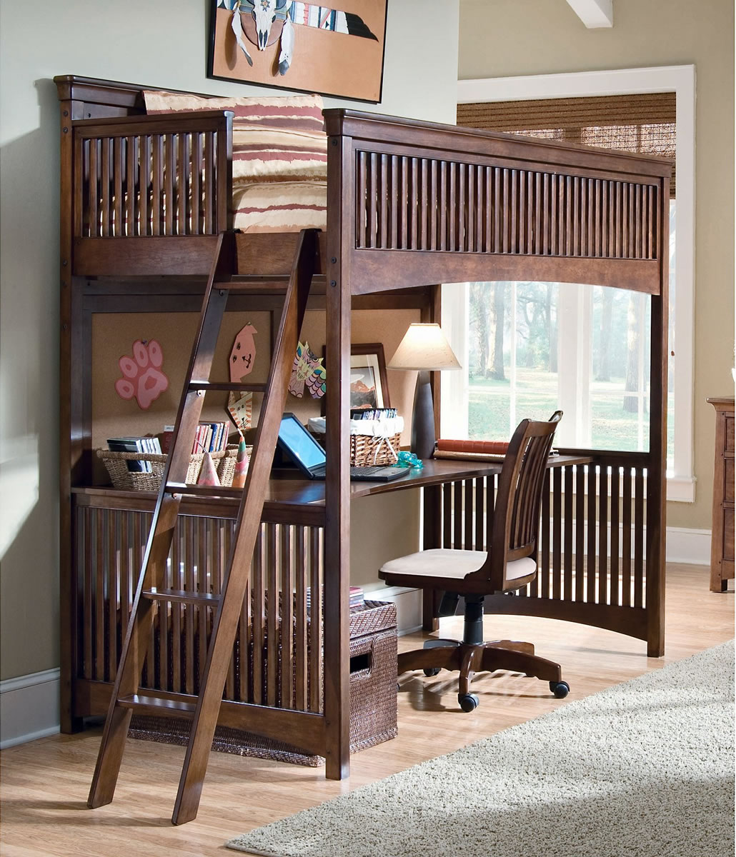 enigmatic desks bunk loft design ideas touch bed desk beds view in kids with underneath gallery