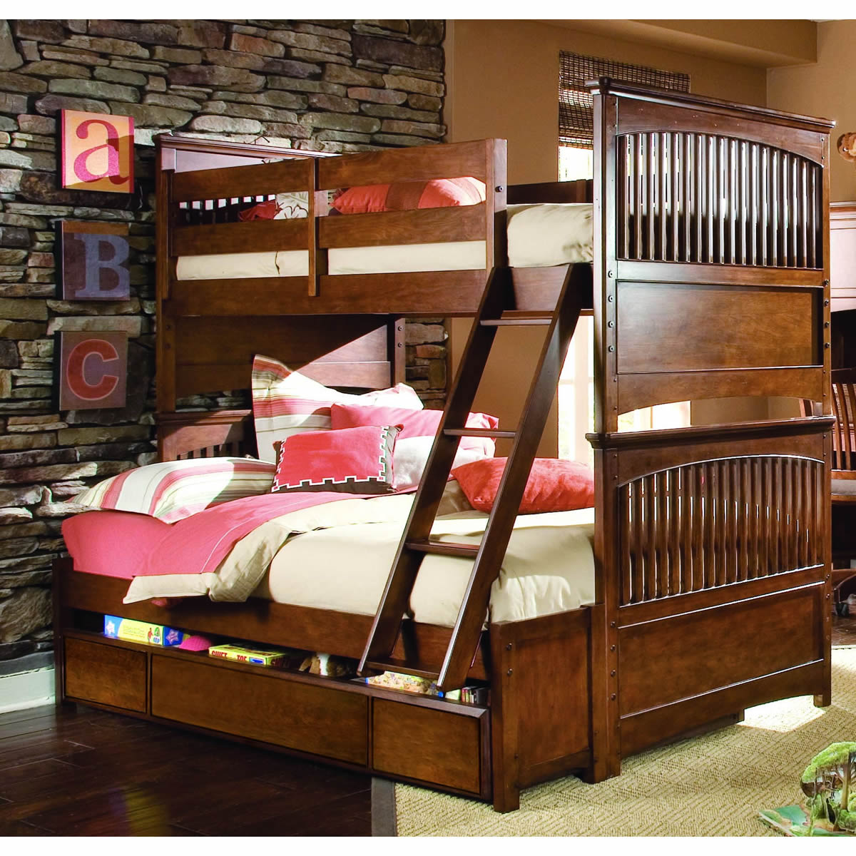 Lea Elite Crossover Twin over Full Bunk Bed