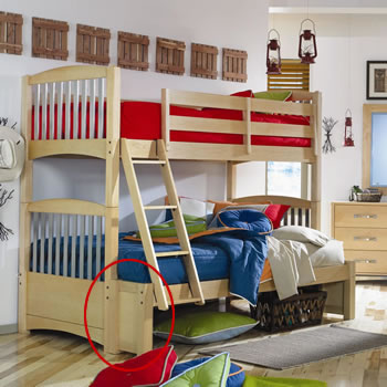 Lea iRoom Twin over Full Bunk Bed