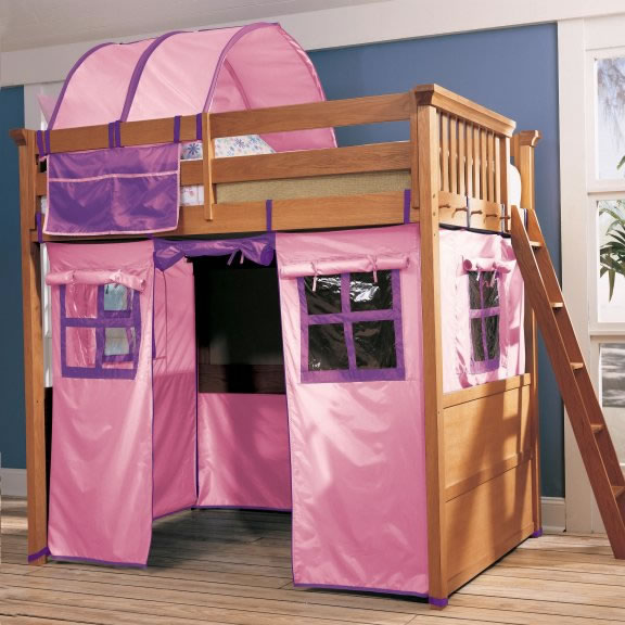 My Place Pink Tent & Lea Furniture My Place Twin over Twin Bunk Bed with Tent