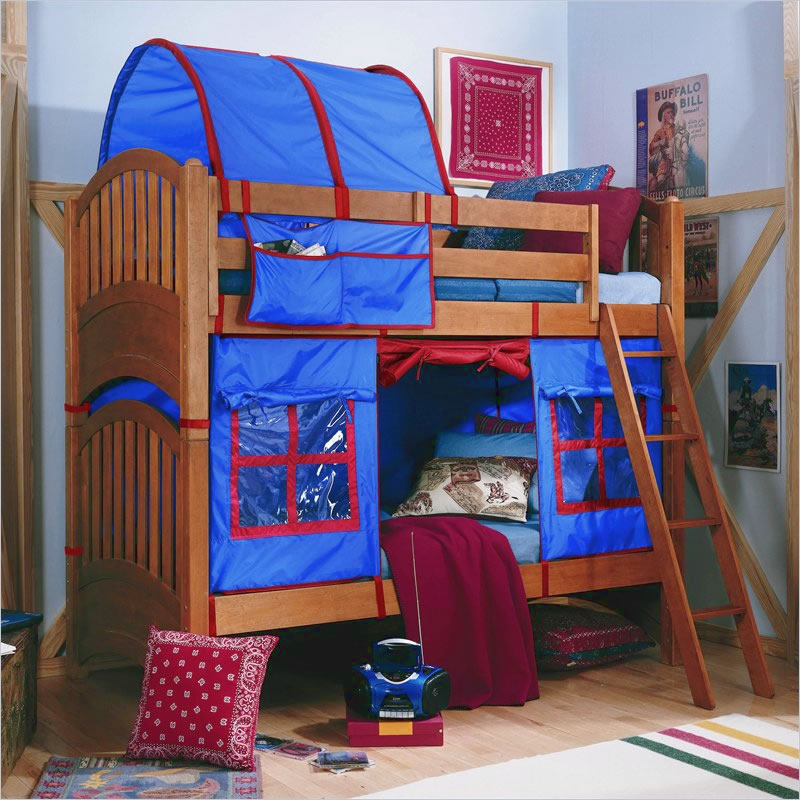 & Lea Furniture My Place Twin over Twin Bunk Bed with Tent