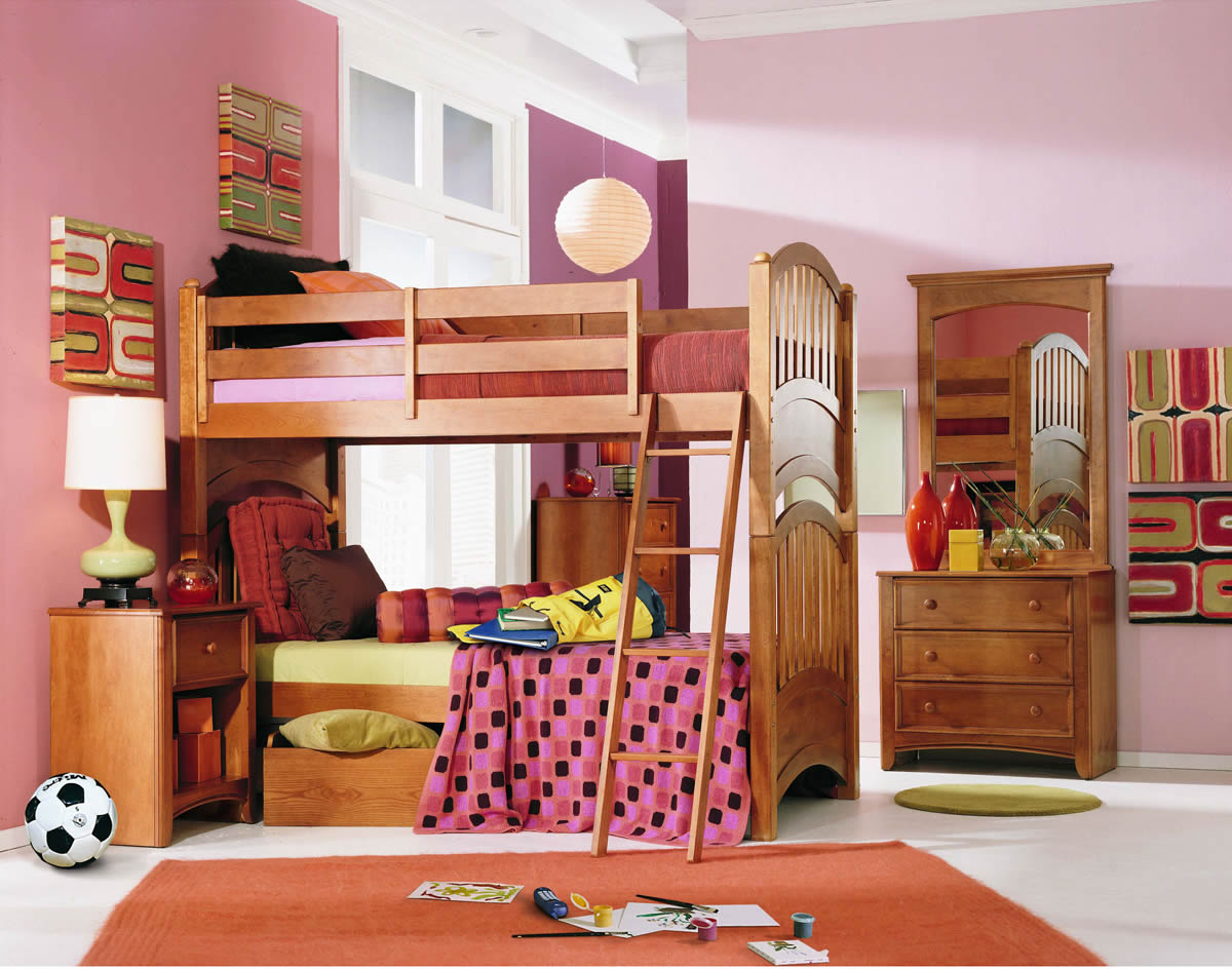 Lea My Place Twin Over Twin Bunk Bed