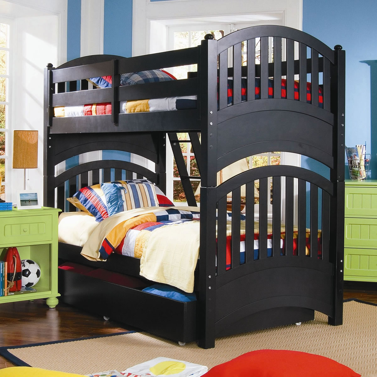 Lea furniture my style twin over twin bunk bed Black bunk beds