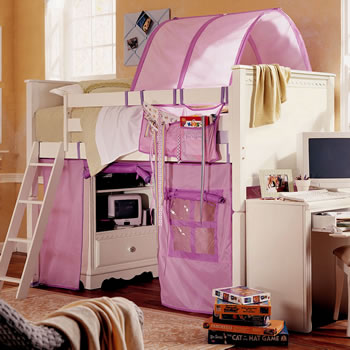 Lea Spring Garden Low Loft Bed with Tent