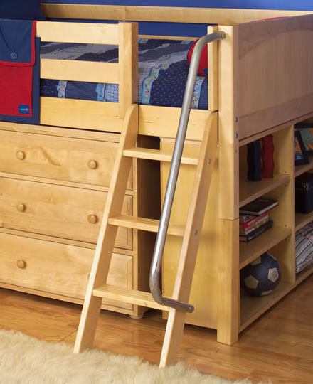 Maxtrix Kids Twin Low Loft Bed With Tent