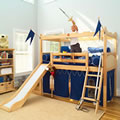 Camelot Low Loft Bed with Slide
