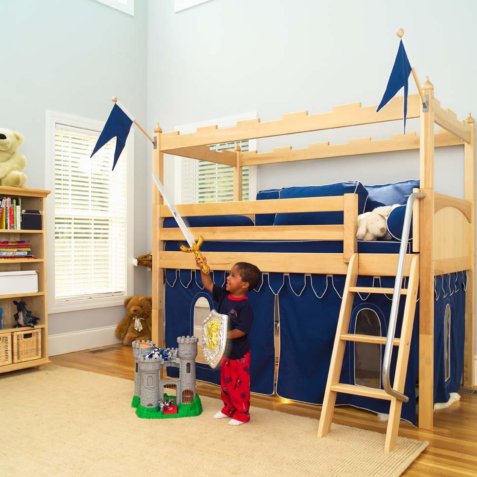 Toddler bunk beds and loft beds browse read reviews discover - Camelot Castle Low Loft Bed