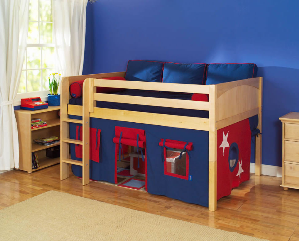 Maxtrix Kids Mansion Full Size Low Loft Bed