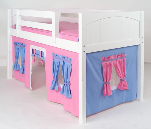 All wooden parts (loft bed plus tent) are made of solid birch hardwood which bodes well for their durability. In addition Maxtrix offers a 5 year limited ... & Maxtrix Kids Playhouse Loft Bed with Tent and Slide