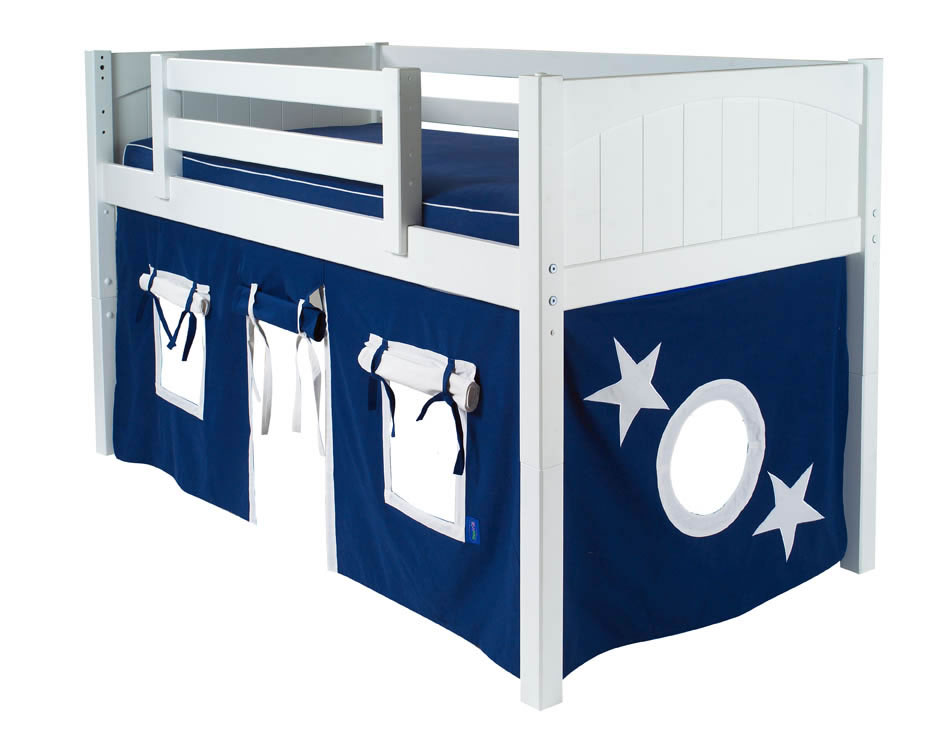 Maxtrix Kids Twin Low Loft Bed With Tent