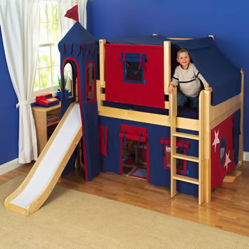 King's Castle Low Loft Bed with Slide