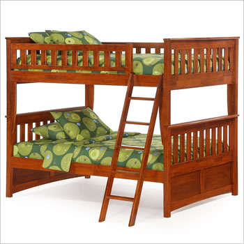 Night and Day Ginger Full over Full Bunk Bed in Cherry
