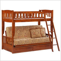 Night and Day Cinnamon Futon Bunk Bed in Cherry