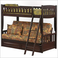 Night and Day Cinnamon Futon Bunk Bed in Chocolate