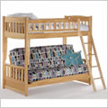 Cinnamon Futon Bunk Bed in Natural