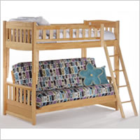 Night and Day Cinnamon Futon Bunk Bed in Natural