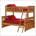 Ginger Bunk Bed in Medium Oak