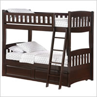 Night and Day Cinnamon Twin Bunk Bed in Chocolate