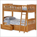 Night and Day Cinnamon Twin over Twin Bunk Bed in Oak