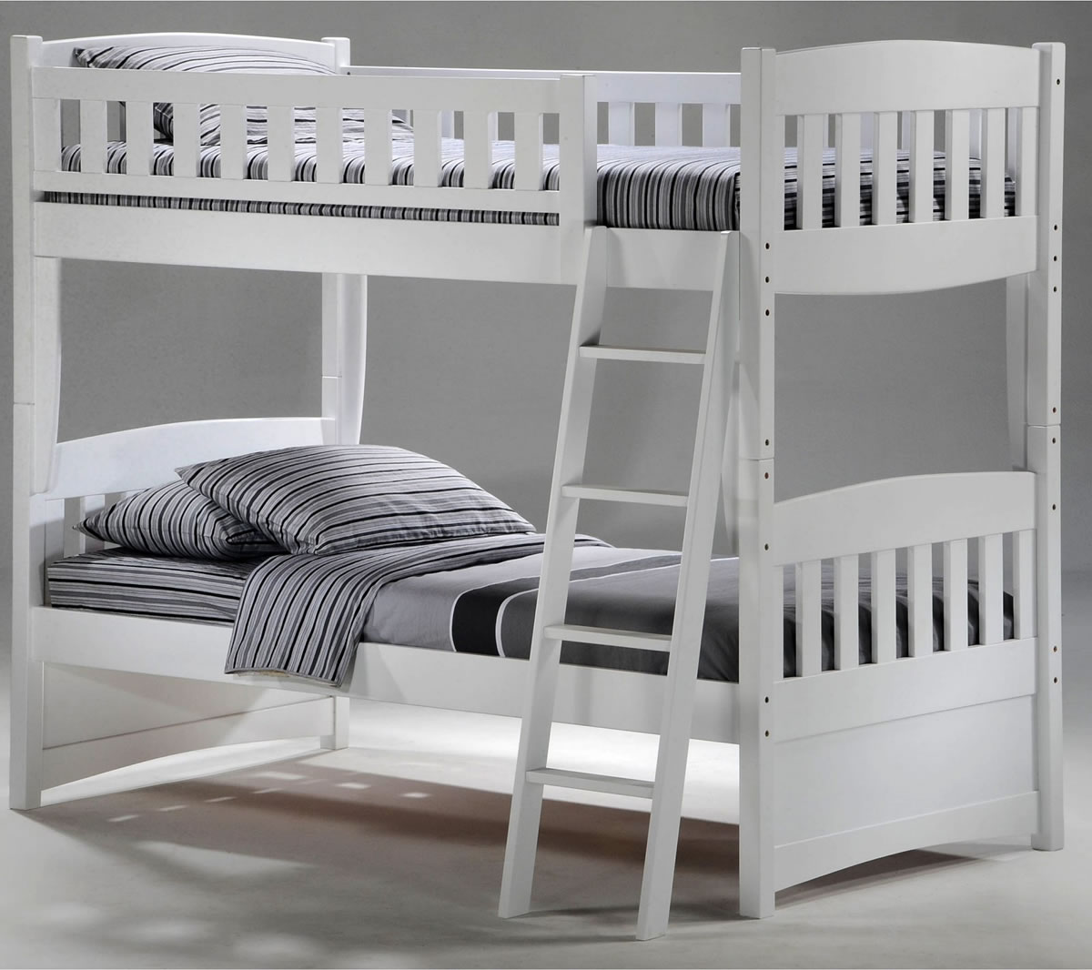 Twin bunk beds white - Cinnamon Bunk Bed In White