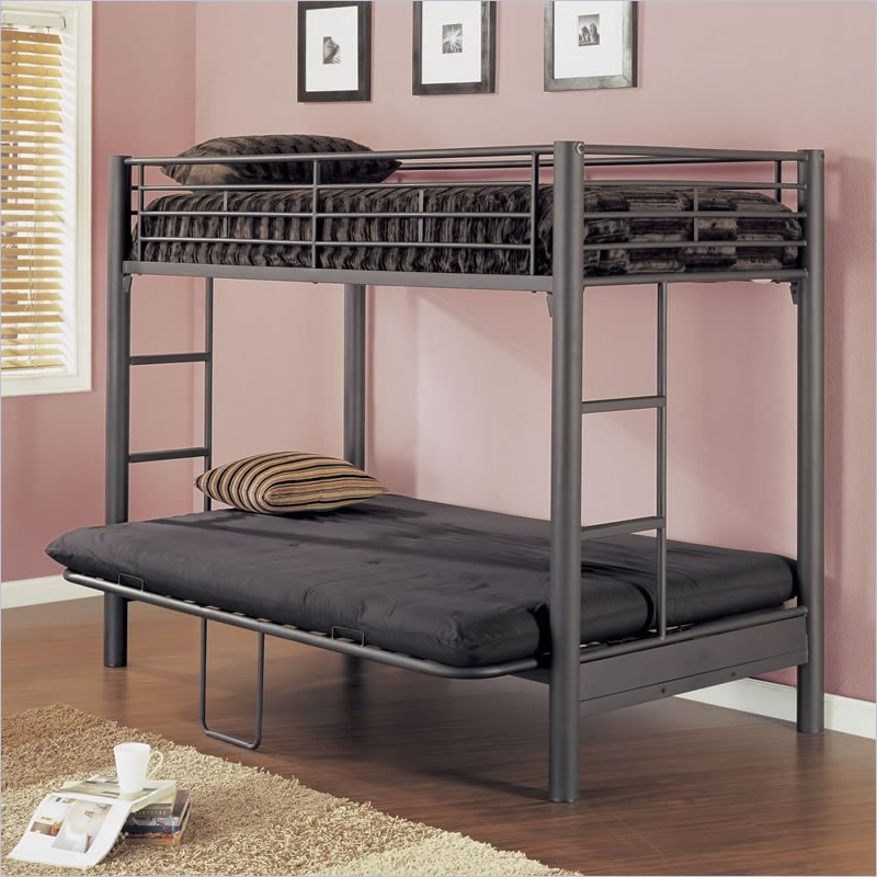 matte pine pow and powell futon twin country black fu beds furniture over bunk bed metal