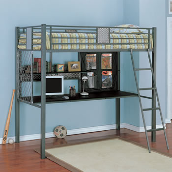 Powell Monster Bedroom Twin Study Loft Bed