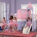 Princess Castle Loft with Slide and Tent