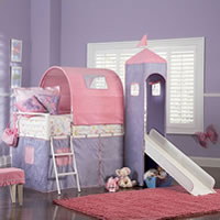 Powell Princess Castle Loft Bed