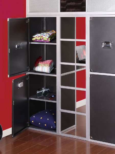 Powell Rock And Roll Full Size Metal Loft Bed With Study Desk